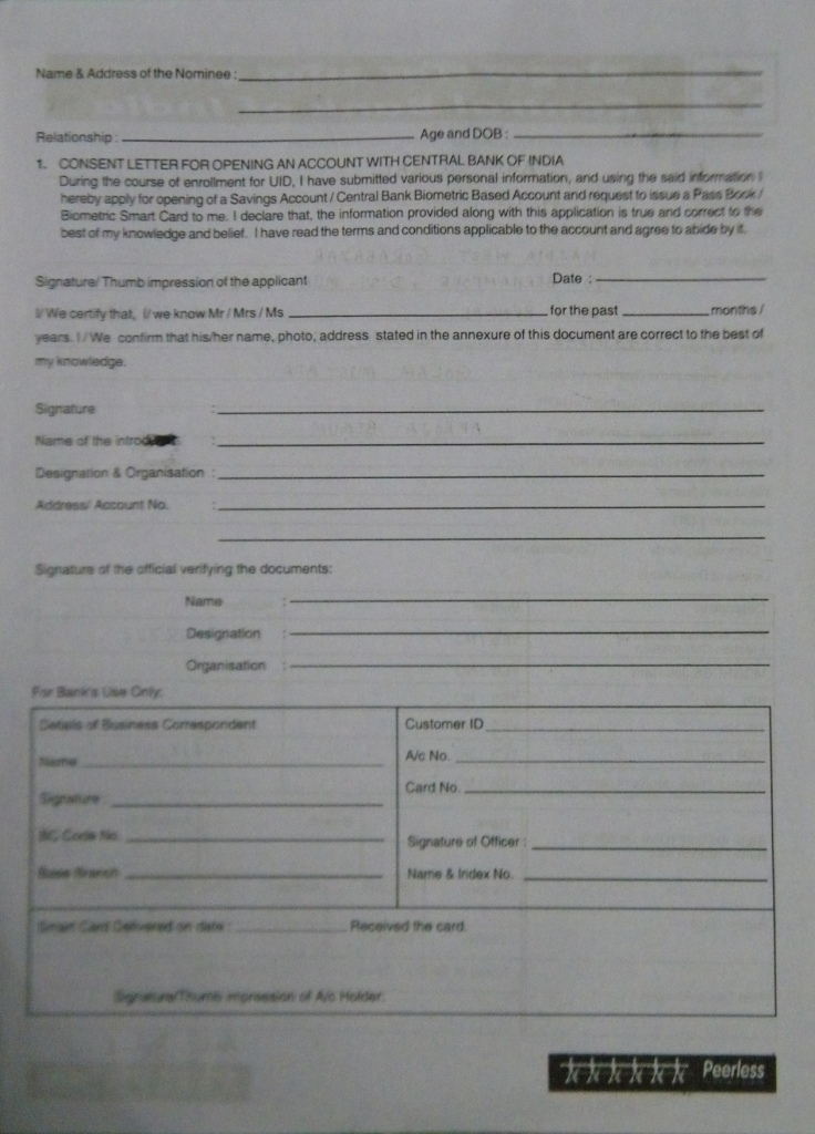 Aadhaar Card Application Form Page 2