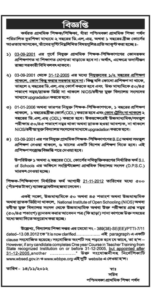 West Bengal Tet 2018 Eligibility Criteria For Paper 1 2 Released 30000 Posts