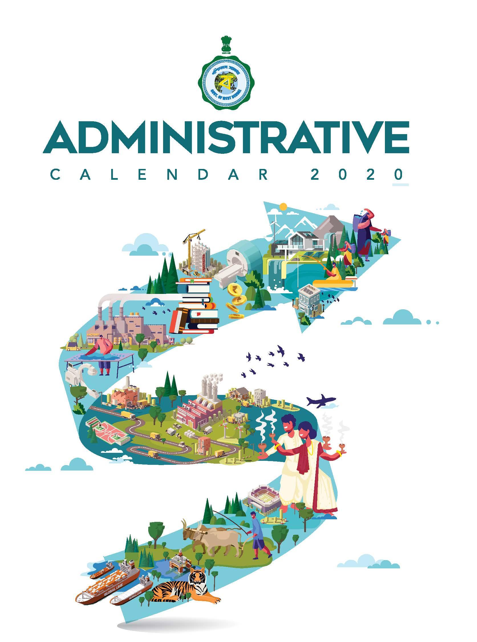 West Bengal Government Administrative Calendar, 2020